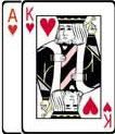 Ace King of Hearts