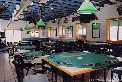 poker tables in a bar